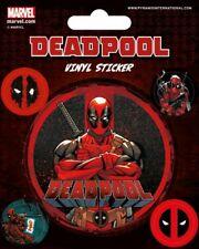 Deadpool Set Of 5 Vinyl Stickers Cartoon Film Animation Official Marvel Comics