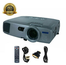 Epson PowerLite 7800P 3LCD Projector 3500 ANSI HD 1080i HDMI w/adapter bundle