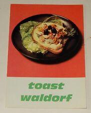 Fiche Recette de CUISINE Pain JACQUET : Toast Waldorf - Vintage