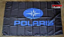 Polaris Flag Banner 3x5 ft ATV Off Road Jet Ski Garage Wall Black