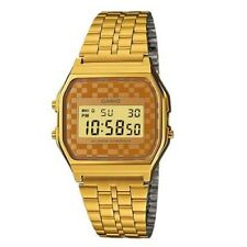 Casio A159WGEA-9A Vintage Retro Gold Stainless Steel Digital Unisex Watch