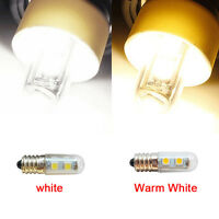 E14 AC 220V 5050 SMD Pure/Warm White Refrigerator 1W 7 LED Light Bulb Lamp