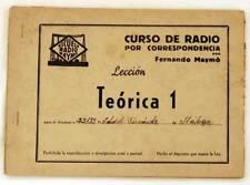 Curso de radio por correspondencia. Lección Teórica 1. Fernando Maymó
