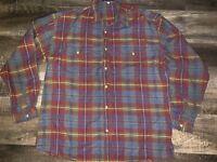 Guess Georges Marciano ~ Vtg Men's Plaid McKinley Cotton Shirt USA ~ XL