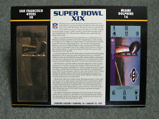 SAN FRANCISCO 49ERS  VS  MIAMI DOLPHINS  22KT GOLD SUPER BOWL 19 TICKET SB XIX