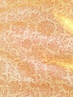 FORTUNY Cimarosa melon white floral signed border printed cotton Italy 2+ yards