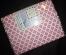 Divatex Home Twin Flannel Sheet Set Pink Button Print New in Bag