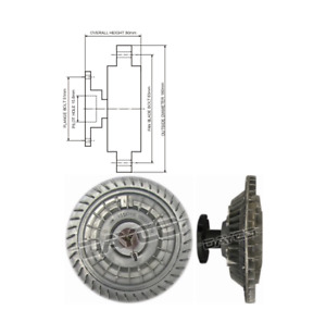 Dayco Viscous Fan Clutch 115049 fits Holden H Series HG 4.2 V8 253 (Red), HG ...