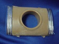 1947 1948 Kaiser Frazer Door Push Button Escutcheon Bakelite Chrome Back Plate