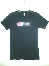 "AMERICAN APPAREL Black T-Shirt ""The Independent"" Unisex Top Combed Cotton Size S"