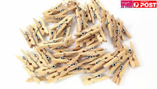 4x Pack of 40pcs 25mm Wood Natural Spring Peg Craft Scrapbooking CSP025