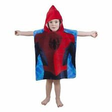 Ultimate Spiderman City Red Hooded Poncho Towel Boys Kids Bath Beach Swimming