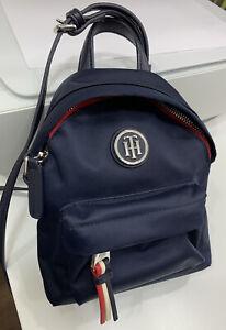 tommy hilfiger Navy Mini Back Pack Crossbody Handbag