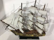 """Vintage USS Constitution 18"""" Tall, And Wide Model Warship Decorative Detailed"""