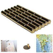 Gold Magnetic Metal Pins Holding Paper Maps Whiteboards Office Home Set of 30