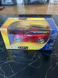 NEW BOXED JADA DUB CITY 1997 TOYOTA SUPRA METALLIC RED 1:32 SCALE DIE CAST METAL