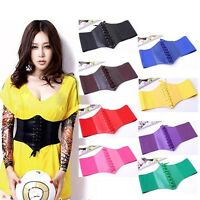 Fashion Women More Color Elastic Extra Wide Corset Tie High Waist Slimming Belt