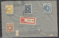 DF8125/ GERMANY ALLIED + SOVIET ZONE – NICE MIXED FRANKING ON REGISTERED COVER