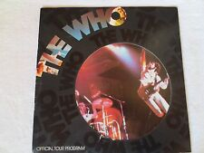 The WHO concert program from 1975!  A concert for the ages!!! Good condition!