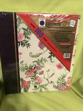 100 Page Photo Album Self-Adhesive Floral Vintage Scrapbooking Woolworth Sealed
