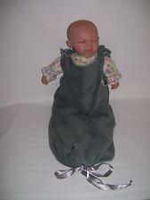 New Handmade Soft Fleece baby sleeping bag newborn-6 m Gray sleeveless one-pc
