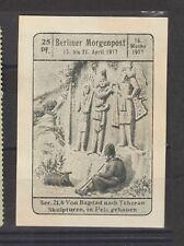 German Poster Stamp Morgenpost 16/1917 Baghdad