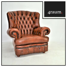 Chesterfield Sessel Leder Relax Vintage Fernsehsessel Lounge Club Ohren Cocktail