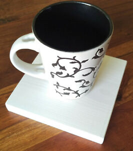 DRINK COASTERS - EXTRA LARGE 14x14cm - Handmade Wooden Coffee Tea cup 7 COLOURS