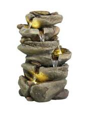 LED Outdoor 6 Tier Rock Water Fountain