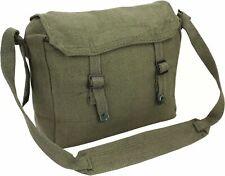 Highlander Canvas Haversack Olive Green Black Military Satchel Messenger Bag SAS