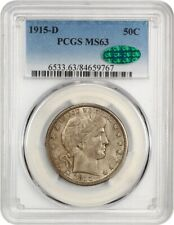 1915-D 50c PCGS/CAC MS63 - Barber Half Dollar - Type Coin