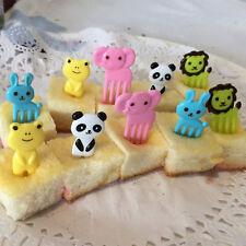 10x Bento Kawaii Animal Food Fruit Picks Forks Lunch Box Accessory Decor Cute