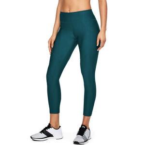 Under Armour UA HeatGear Tb Balance Ladies Vanish Crop Sports Running Leggings L