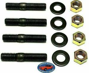 Ford Holley Edelbrock Carter Carburetor Intake Manifold 5/16x1-3/4 Studs 4pcs QP