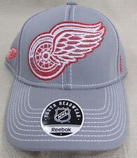 DETROIT RED WINGS Youth Boy's Reebok Flex Fit Licensed NHL Hat Yth 8-20 Gray NEW