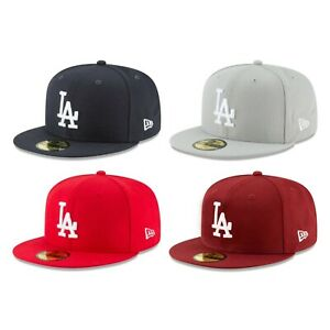 Los Angeles Dodgers LAD MLB Authentic New Era Fitted Cap -Navy Gray Red Burgundy