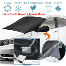 Car SUV Windshield Cover Snow Sun Shade Protector Ice Frost w/ Mirror Cover +Bag