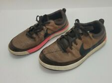MENS NIKE LUNAR WAVERLY BROWN LEATHER GOLF SHOES 652780-200 SIZE 11