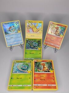 Mcdonalds Pokemon Cards 25th Anniversary! COMPLETE YOUR SET EASY! -FREE SHIPPING