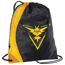 Back to School Unisex Pokemon Go Drawstring Bag Kids Adults Sports Gym Backpack
