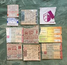 Concert Ticket Stubs 1970's - 1983