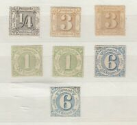 Germany Thurn & Taxis 1865 Imperf Collection Of 6 MH J8244