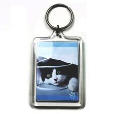 500 WHOLESALE BLANK KEYRINGS 50 x 35 mm INSERT    92033