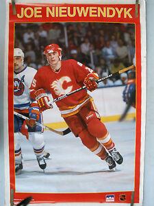 RARE JOE NIEUWENDYK CALGARY 1988 VINTAGE ORIGINAL NHL STARLINE HOCKEY POSTER