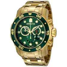 Invicta 21925 Mens Pro Diver Scuba 18kt Gold Plated Steel Chronograph Green Watc