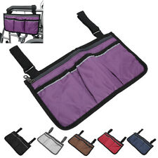Wheelchair Bag Pouch Large Capacity Hanging Bag Storage Organizer Armrest Pouch