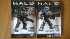 Mega Bloks Halo Spartan warrior Exclusive Figures  2015 ,1 green visor, 1 red