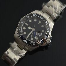 43mm Bliger Schwarzes Zifferblatt Saphirglas Blau GMT automatische Armbanduhren