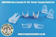 NEW 1:48 Iroquois Models 48004 Avro Arrow Open Clamshell Canopy Clear Cast Resin