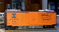 O GAUGE FREIGHT CAR LIONEL K-LINE K766-1057 SANTA FE CHIEF MAP REEFER #32433